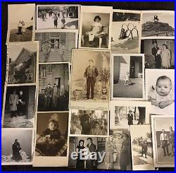 1500 Old Photos Lot BW Vintage Photographs Snapshots Black White antique