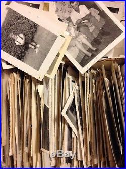 1500 Old Photos Lot BW Vintage Photographs Snapshots Black White antique vtg