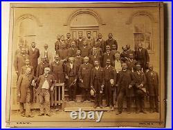 1870's CABINET CARD PHOTO A. M. E. CHURCH EARLIEST KNOWN GROUP RARE BLACK IMAGE