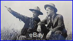 1920 VINTAGE 8 X 10 PHOTO CHARLES RUSSELL & WILLIAM S. HART