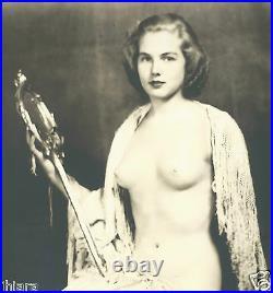 1920's JAZZBABY DECO NUDE ZIEGFELD KAY MARR ALFRED JOHNSTON SILVER GELATIN PHOTO