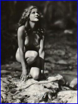 1920s Original EDWIN BOWER HESSER Female Nude JEANETTE LOFF Silver Gelatin Photo