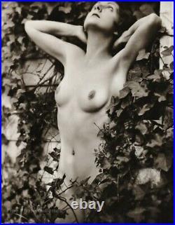 1920s Original EDWIN BOWER HESSER Female Nude Woman Vintage Silver Gelatin Photo