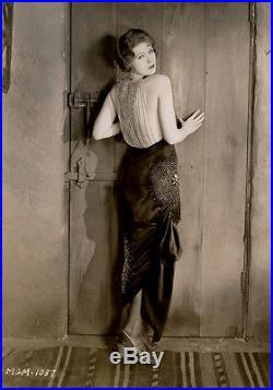 1926 Risque Greta Garbo Earliest Hollywood Portrait Photograph Vintage Rarest
