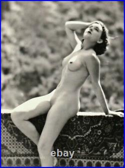 1929 Original EDWIN BOWER HESSER Art Deco Female Nude Woman Silver Gelatin Photo