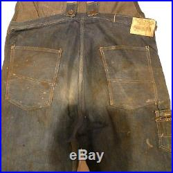 1930's Vintage Overalls fromThe Boss Overall's with original printed patch sti