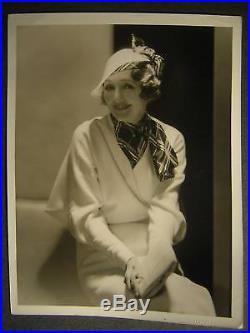 1930s Hedda Hopper VINTAGE 10x13 PHOTO By Hurrell OS16