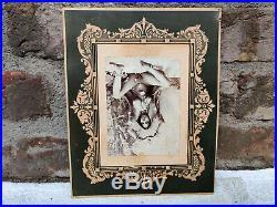 1930s Vintage Nude Tribal Lady Jewellery Posing Black & White Camera Photograph