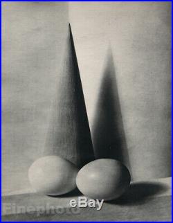 1931 Vintage PAUL OUTERBRIDGE Modernist Cone Egg Still Life Photo Art Deco 16X20