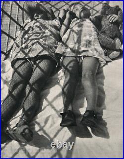 1931 Vintage Sleeping Children Teddy Bear By MOHOLY-NAGY Hungary Photo Art 16X20