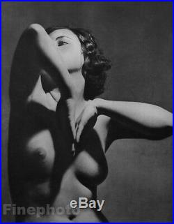 1935 Vintage FRENCH FEMALE NUDE Naked Woman Breasts Body Photo Art HURAULT 16x20