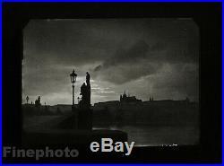 1940/78 JOSEF SUDEK Vintage Czech Photo Gravure Charles Bridge Prague Cityscape