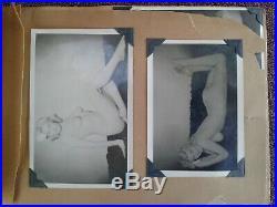 1940s PHOTO ALBUM CHEESECAKE NUDES SHOWGIRLS MODELS 34 PHOTOS VINTAGE ORIGINAL