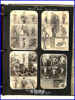 1940s Vintage Scrap book of gay male erotica photo sheets Schuler, Rolando