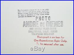 1950 Original Andre De Dienes Female Nude Body Surreal Silver Gelatin Photograph