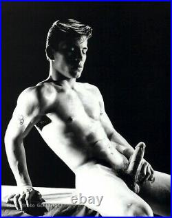 1950s BRUCE BELLAS L. A. Vintage JOE DALLESANDRO Nude Male Photo Engraving 12X16