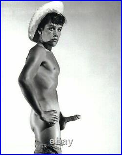 1950s BRUCE BELLAS Of L. A. Vintage Male Nude Naked Man Photo Engraving 12X16