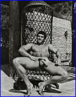 1950s BRUCE BELLAS Of L. A. Vintage Nude Male Bodybuilder Photo Engraving 11X14