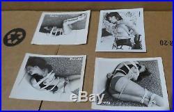 1950s Set of 9 Vintage & Original Black & White Photos Women in Bondage 4 X 5