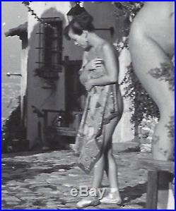 1950s Vintage Nude PhotoBig Breasts Pinup Lou Mixon & Betty Page @ Spider Pool