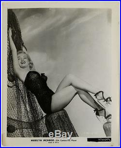1951 Marilyn Monroe Pin-Up Photograph Early Frank Powolny Cheesecake Vintage
