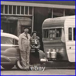 1952 Photo of Vintage Camper in La Habra, California, Buick Roadmaster