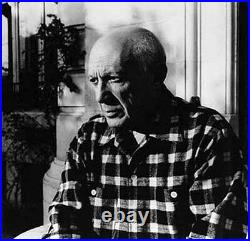 1955 Lucien Clergue Signed Black & White Photograph of Pablo Picasso