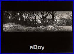 1956/80 Original JOSEF SUDEK Silver Gelatin Photo Winter Snow PANORAMA LANDSCAPE