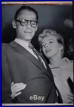 1956 Marilyn Monroe Arthur Miller Original Type 1 Photograph VINTAGE