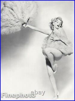 1958 Vintage MARILYN MONROE Nude w Feathers By RICHARD AVEDON Actress Photo Art