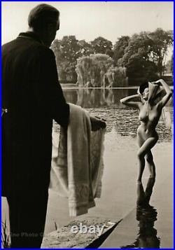 1962 ANN DIXON Female Nude Rich Girl Exhibition RUSSELL GAY Silver Gelatin Photo