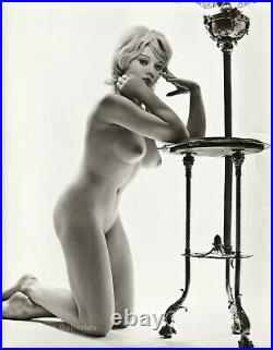 1962 Original VICKI KENNEDY Female Nude RUSSELL GAY James Bond Girl Silver Photo