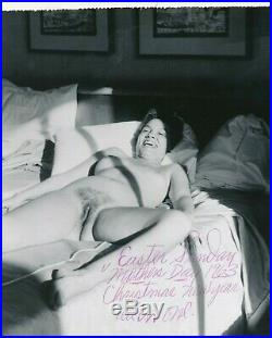 1963 Vintage Nude 8x10 Photo African American Woman in Hotel Signed All in One