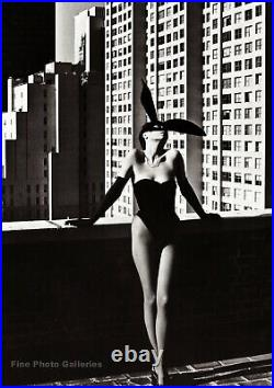 1970s ELSA PERETTI Vintage Bunny Fashion New York HELMUT NEWTON Photo Art 12X16