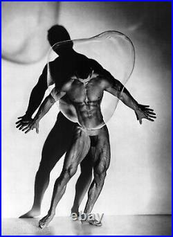 1987 HERB RITTS 16X20 Vintage Photo Gravure Semi Nude Male Bubble Muscle body