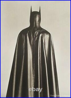 1988 Vintage HERB RITTS Michael Keaton BATMAN Movie Cape Costume Photo Art 16x20