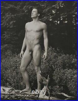 1990 BRUCE WEBER Vintage Outdoor Male Nude Body CLAES Adirondack Photo Art 11X14
