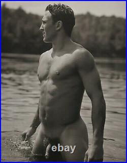 1990 Vintage BRUCE WEBER Outdoor Nude Male JOHN Adirondack Lake Photo Art 11X14