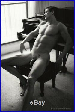 1990's Original Male Nude Piano Silver Gelatin Art Photograph By Jay Jorgensen