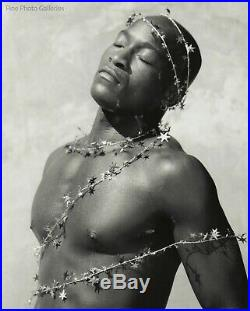 1990s Original Black Male Nude Model By JAY JORGENSEN Silver Gelatin Art Photo