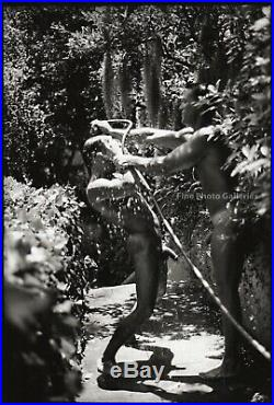 1995 Original Male Nude Water Garden Physique Silver Gelatin Photo Jay Jorgensen