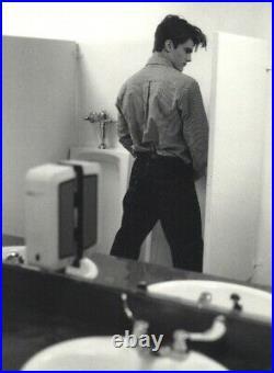 1999 Bruce Weber Male Model Peter Johnson At Urinal Art Photo Gravure