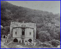 2 Antique Photo Chinese China Canton Hongkong Macau Albumen Building 1887 #04