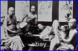2 Antique Photo Chinese China Canton Hongkong Macau Albumen Opium 1887 #05