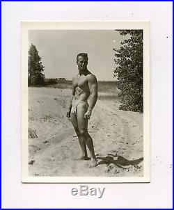 #36 VINTAGE PHOTO NUDE MALE PHYSIQUE CLIFF OETTINGER / VIC SEIPKE 50'S BULGE GAY