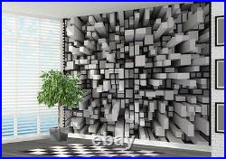3d Wallpaper abstract Black and White small block wall mural photo (19266213) 3d