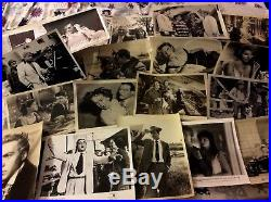 500 MIXED LOT OF MOVIE STAR PHOTOS 8 by10 Vintage Photos 1920s & LATER #box31k