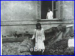 #529 VINTAGE SILVER GELATIN B/W PHOTO SIGNED DEBORAH TURBEVILLE 2 WOMEN IN WHITE