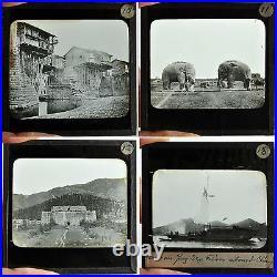 62 Antique Magic Lantern Slide Photo China Tibet Chinese View People Dress 1910