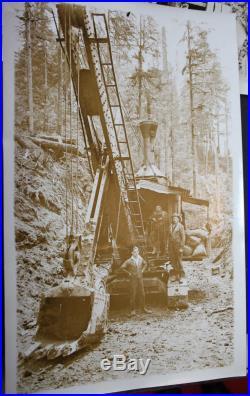 8 Vintage Photographs Tidewater timber Co. Railroad Logging Train Oregon
